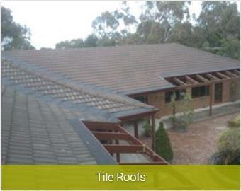 Tile roofs gutter install