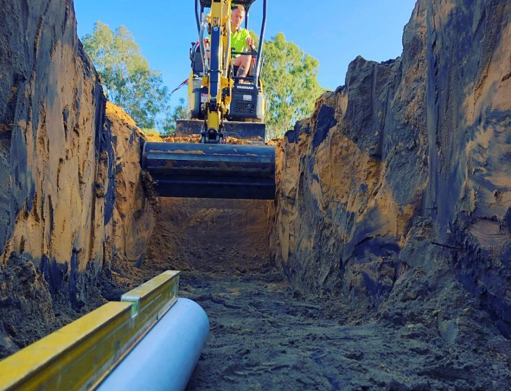 A quick sewer diversion for a civil contractor